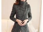 直销欧洲站女装 秋季新款 羊毛呢 小香风外套 东大门韩版大衣批发