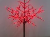 批发1.5米LED发光樱花树灯节日装饰彩灯户外工程草坪灯庭院路灯