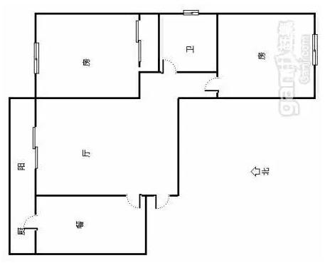 向阳路 大园新居 2室 1厅 68平米 整租大园新居大园新居