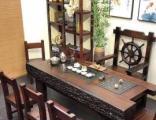 古船木茶桌实木茶台椅组合阳台功夫茶几老船木家具厂家直销