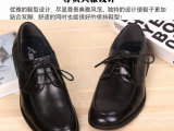 男鞋2014新品牌男单鞋黑色日常休闲鞋真皮商务鞋大码皮鞋尖头37