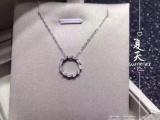 周生生周大福周六福叶子18k金天然钻石项链