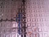佛山供应201玫瑰金镜面铜钱压纹不锈钢板