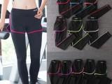 假两件女跑步健身长裤 运动紧身裤瑜伽跳操
