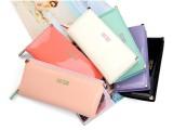 2014韩版新款爱心钱包 粉色钱包女长款 可爱漆皮亮面女士钱包皮