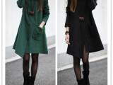 9020春装新款大码女装宽松长袖不规则修身显瘦中长款连衣裙批发