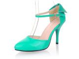 2014夏季新款女鞋凉鞋时尚细高跟搭扣尖头凉鞋批发OL气质糖果女