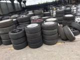 出售九成新二手拆车轮胎 回收轮毂 18寸以上