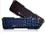 狼蛛惊邪发光背光键盘 自定义编程按键 USB游戏键盘 有线