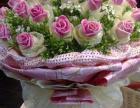 北关鲜花开业蓝婚车24小时电话预定生日花束送小熊
