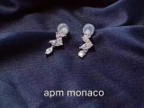 APM Monaco LUMI RE系列纯银镶晶钻耳环