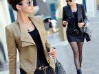 机车皮衣2014新款女皮夹克秋季韩版修身时尚短款女式PU皮衣小外套
