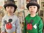 北京童装批发市场秋季较便宜儿童套装批发儿童加厚打底衫特价批发