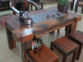 云浮老船木船舵装饰茶桌批发功夫泡茶桌实木茶几