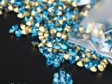 厂家热销批发国产A钻彩色尖底湖蓝色水钻 DIY手工钻 爪链钻玻璃