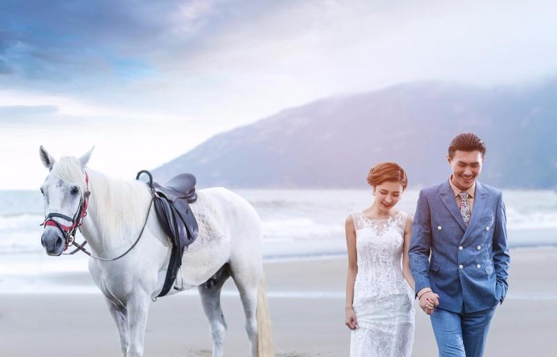 临沂海之礼婚纱摄影 和您相约浪漫马场