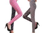 外贸原单欧美时尚打底裤 修身显瘦印花铅笔裤 牛奶丝九分裤