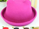 冬天帽子 耳朵帽 帽子女冬天韩版 秋天帽子 猫耳朵 羊毛圆顶帽
