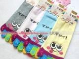 卡通五指袜 韩国可爱袜子 日本女袜 日单