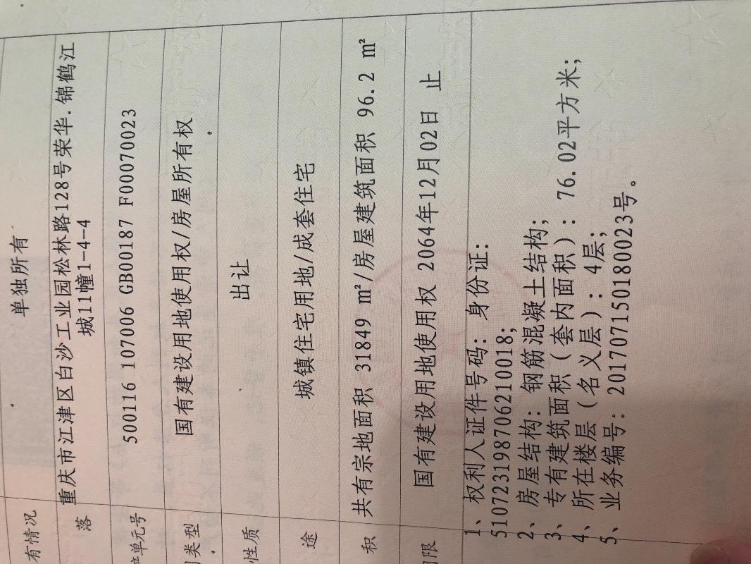 荣华锦鹤江城 96平米 出售