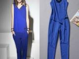 (卡依)2014春夏新款欧美风 V领无袖连体裤 连衣裤HO032
