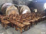 醉鹅桌椅碳烧木餐厅台凳火烧木仿古家具