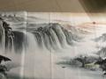 国画。八尺。山水画