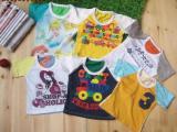 爆款 夏季男女儿童童T恤批发 短袖卡通半袖薄款T恤纯棉百搭上衣