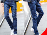 美特斯邦威牛仔裤男装 夏薄男式韩版潮弹力小脚裤批发