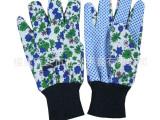 花园点珠手套 防滑防护花园手套 园林手套 pvc点塑手套389