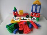 童才刺刺积木 齿形积木 塑料玩具 幼儿益智积木拼插 桌面玩具
