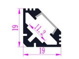 【批发】LED V型硬灯条铝槽 家具装饰铝槽带PC罩