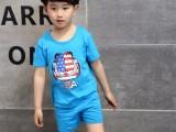 新款童装纯棉短袖套装可爱卡通图案潮童夏装黄南厂家服装直销批发