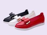 厂家直销 2015秋季新款欧美女鞋 蝴蝶结尖头平底女单鞋 休闲女