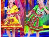 l六一儿童演出服 彝族服少数民族服装 高山族舞蹈服苗族女舞蹈服