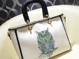 大包包2013新款潮女秋韩版女式包猫头鹰女包烫金印花单肩包手提包
