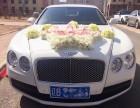 大连婚礼结婚租车-大连白色宾利婚车租赁