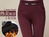 2014冬季加绒打底裤创意款小脚裤大码保暖打底裤中年长裤 女厂家