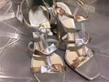 2015年夏季新款大牌明星同款中跟真皮凉鞋欧洲站蝴蝶结女鞋微信