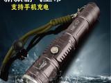 正品强光手电筒带USB充电 T6升U2变焦远射手电筒 led夜骑