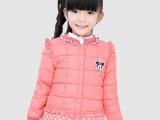 儿童羽绒棉内胆2015新款韩版波点女童羽绒棉内胆冬款中童女童棉衣