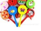 儿童木制玩具批发 婴幼儿早教益智玩具 敲打乐器可爱 多彩拨浪鼓