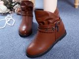 2014短筒春秋新款单靴平底女鞋女靴子内增高马丁靴蝴蝶结短靴