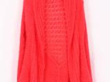 青岛货源 新款韩版针织开衫毛衣 中长款毛衣外套披肩马海毛毛衣