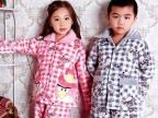 乐之星 儿童睡衣冬加厚保暖可爱兄妹家居服