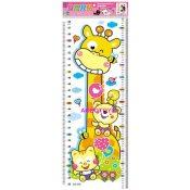 儿童身高贴纸 宝宝卡通墙壁贴画身高贴 房客厅室背景墙贴0.035