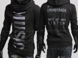 厂家直销2013韩版个性字母印花套头修身型男外套卫衣 男
