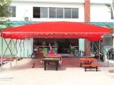 户外大型遮阳棚活动雨蓬工厂大型活动帐篷夜宵大排档棚