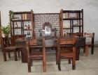 老船木茶桌仿古户外阳台茶台中式书房泡功夫茶桌椅组合可订做家具