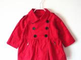 [3dm1] 2013秋季外贸女童装 中小童双排扣风衣外套